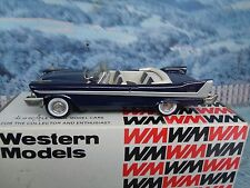 1/43 Western models  1958 PLYMOUTH BELVEDERE white metal