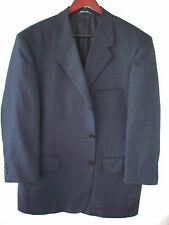 Natazzi 42S Navy Sport Coat Crafted in Italy Premium Super 150s Silk & Wool