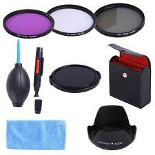 67MM UV CPL FLD Filter Kit + Lens Hood & Cap for Canon EF 18-135mm 10-18mm Lens