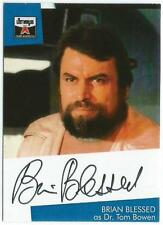 THE LOST Worlds of Gerry Anderson auto cartolina bb1 Brian BENEDETTO come DR TOM Bowen