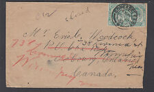 Cape of Good Hope Sc 63 on 1910 Forwarded Cover to Winnipeg, Canada