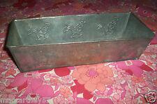 ANCIEN PLAT MOULE A GATEAU CAKE DECOR CONTOUR COQS 31 CM X 12,5 cm x 8 cm