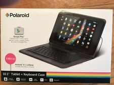 POLAROID 10.1'' TABLET + KEYBOARD CASE BRAND NEW PURPLE/BL BLUETOOTH DUAL CAMERA