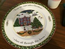 "Susan Winget, A Christmas Story Dinner Plate, ""Twas the Night Before Christmas"""