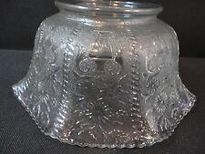 "Antique Victorian Pressed Glass Lamp Shade GWTW Banquet Gas Light 4"" Fitter"