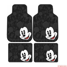 New Mickey Mouse Expressions Car Truck Front Rear Rubber Floor Mats 4pcs Set