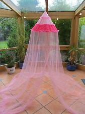 Betthimmel Kinder Baldachin Mückennetz Insektenschutz Fliegennetz rosa pink Neu