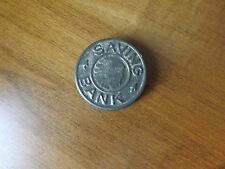 Vintage Tin Indian Head Pocket Savings Bank - Reasonable Condition 1.5 Inches