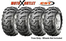 "Set of 4 25"" Atv Tires Ancla 2 Front 25x8-12 Two Rear 25x10-12 Maxxis CST"