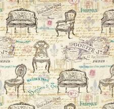 Antique Furniture ~ House of Paris ~ Chairs~Victorian Script ~ Fabric ~ 1/2 yard
