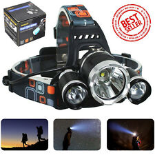 New 12000LM LED Headlight Flashlight Torch Cree XM-L T6 Headlamp Head Light Lamp