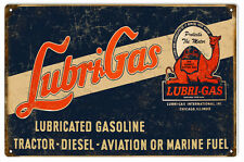 Lubri Gas Motor Oil And Gas Station Sign Reproduction