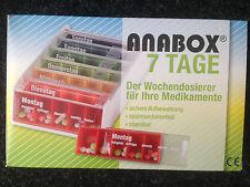 Anabox 7 Días Arco Iris Wochendosierer La Píldora Del Organizador Pillenbox