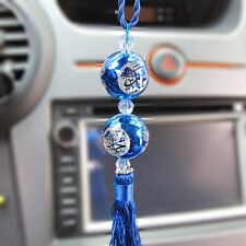 New Blue Car Mirror Hanging Ornament Rear View Mirror Pendant Accessories Muslim