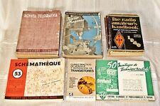 Lote de 33 revistas y 3 libros electronica años 40 y 50