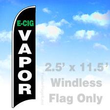 Flag Only 2.5' WINDLESS Swooper Feather Full Sleeve Banner Sign- E-CIG VAPOR v2k