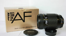 Nikon AF Nikkor  70-210mm f4-5.6  Macro Telephoto Zoom Lens Inc Cap Boxed