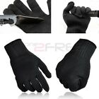 1Pair Black Stainless Steel Wire Safety Works Anti-Slash Cut Resistance Gloves