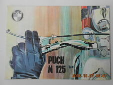 puch m 125  . catalogue publicitaire  . advertising catalog