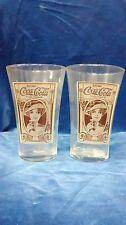 Vintage 1960s coca cola flair cups