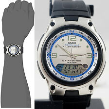Casio AW82-7AV Fishing Timer Moon Data Watch Resin Band 10 Year Battery New