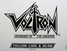 SALE 15% OFF VOLTRON YELLOW LION & HUNK MATTEL VOLTRON G-15976 0746775167844