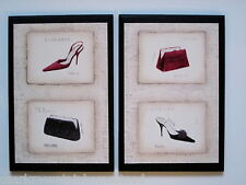 Paris Style Wall Decor Signs ladies bedroom bathroom red black bath pictures