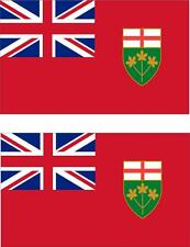 set of 2x sticker vinyl car bumper decal outdoor car moto flag ontario canada
