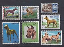 Dog Art Postage Stamp Collection Black Brindle Fawn GREAT DANE 7 Head Body MNH