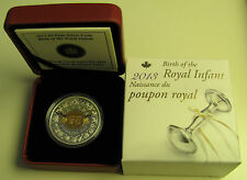 2013 Proof $5 Birth Royal Infant - Toys Baby Prince Canada .9999 silver w/ gold