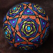 "Temari Ball ""Prayer Song"" Japanese Psychedelic Art Home Decor Crafts Ø 77 mm"