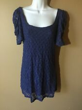 DRESS Free People Small Purple Lace Party S Jrs COMFY $138 LOW CUT SEXY