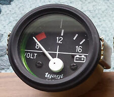 "Vintage car 2"" 52MM DIAL GAUGE CAR UNIVERSAL 8-16 VOLTMETER CLOCK 12V Black-613"