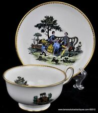 Royal Chelsea China Gentlemen Courting Lady Outdoor Tea Party Cup & Saucer VTG