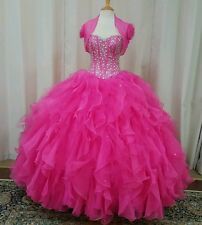 NEW Vizcaya by Mori Lee Sweet XV 16 Prom Quinceanera Dress 88001 Hot Pink Size 8