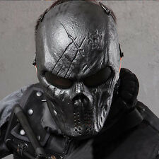 Black Full Face Masks Cosplay Hunting Costume Actical Military Halloween Airsoft
