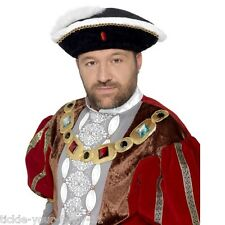 Fancy Dress Henry VIII Hat King of England Costume Cosplay 8th Royal Victorian