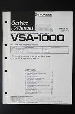 PIONEER VSA-1000 Original Service-Manual/Service-Anleitung/Schaltplan! o23