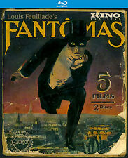 Fantomas (Blu-Ray 2 Disc Set, Kino Jan-2016) French Silent Crime Serial 1913-14