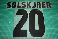 Manchester United 98/99 #20 SOLSKJAER UEFA Chaimpons League Awaykit Nameset
