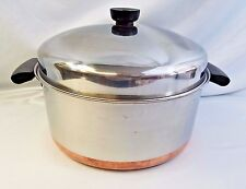 Revere ware 6 qt stainless steel copper bottom Stock Pot Dutch oven and Dome lid