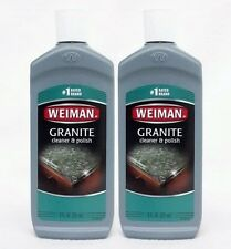 2 Weiman GRANITE Cleaner & Polish #1 Rated Brand Kitchen Table Stone Counter Top