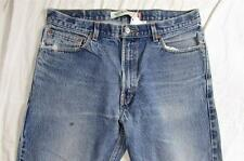 Levi 505 Straight Leg Denim Jeans Nice Fade Tag Size 36x32 Measure 36x31.5