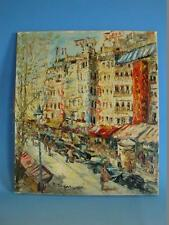 RS1116-182: Gemälde Straßenansicht Paris Boulevard sig. Chasseur