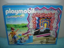 Playmobil Summer Fun #5547 - Tin Can Shooting Game - 26 Piece Set - New In Box