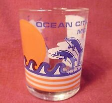 Ocean City Maryland Shot Glass Dolphins Sailboat One Double Shot Every 15 Minute