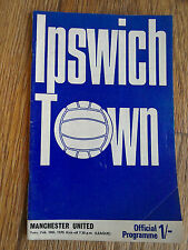 10/02/1970 Ipswich Town Vs Manchester United Football Match Programme