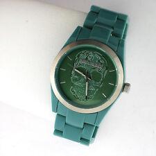 Zadig & Voltaire Art Green Link Band Skull ZV048 Quartz Ladies 3 Hand Watch