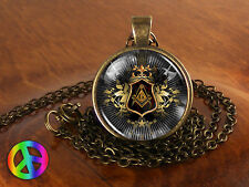 Masonic Free Mason Freemason Illuminati Mens Men Necklace Pendant Jewelry Gift