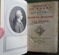 CURIOSA : Boursault Crébillon Lettres de Babet & Dame de Qualité à Amant 1764